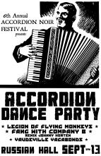 Accordion Dance Party, Friday Sept 13