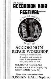 Accordion Repair Mad-Science Workshop!  Sunday, Sept 15,  5-7 PM